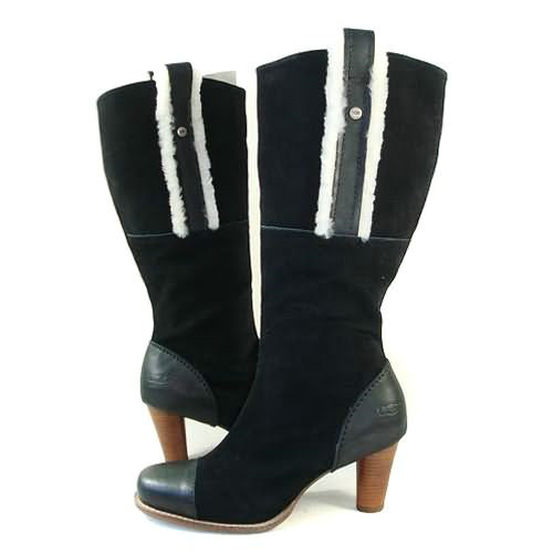 Tess 5502 Leather Ugg Boots - Black